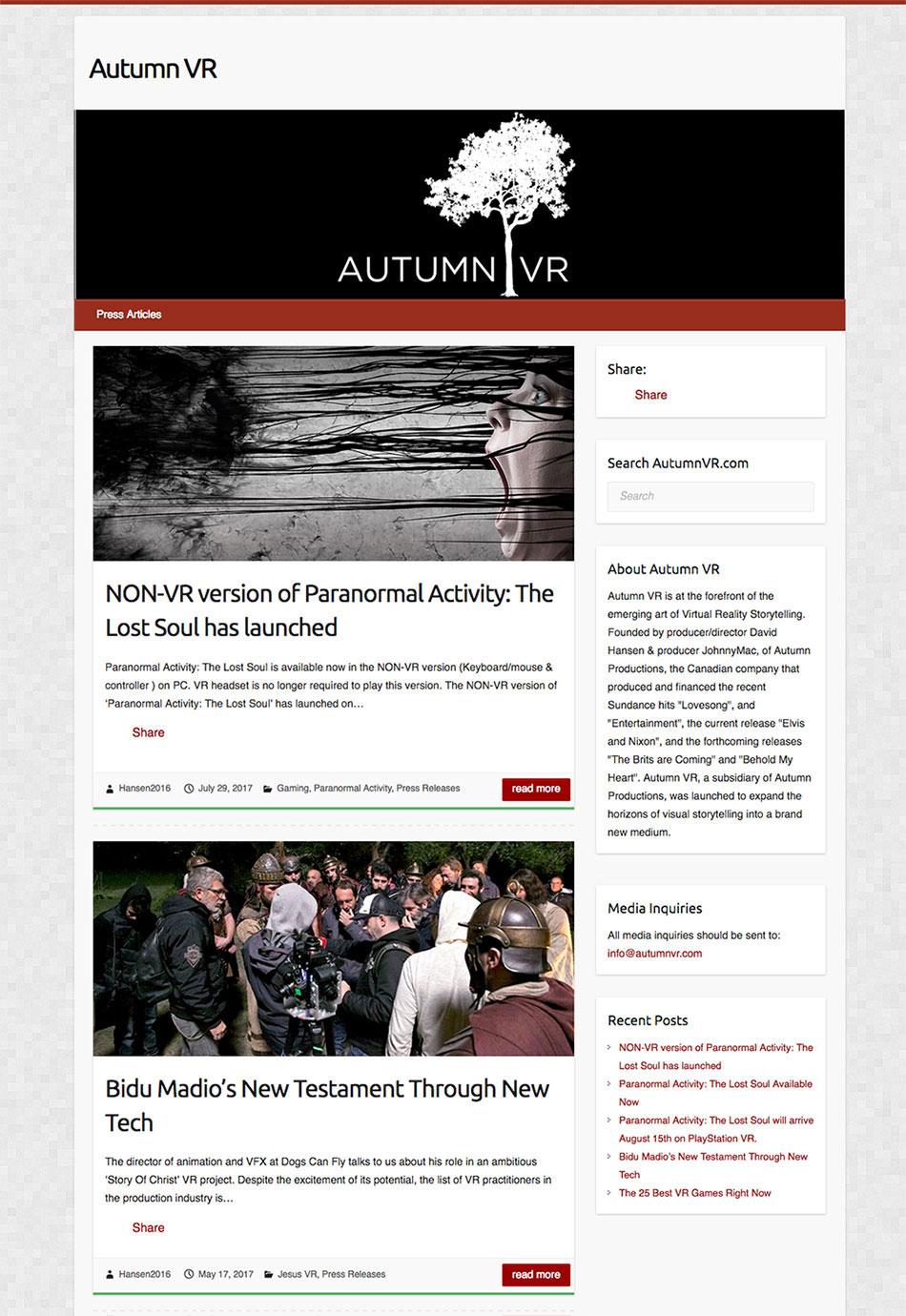 Autumn-VR-Website