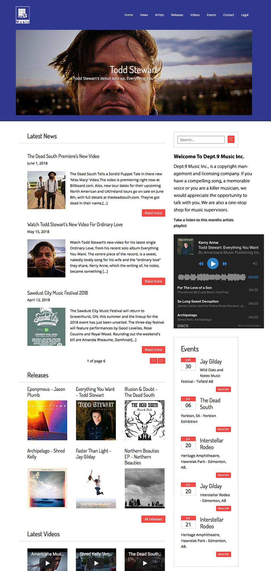 Dept9-Music-Web-Site